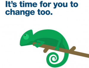 It's time for you to change too